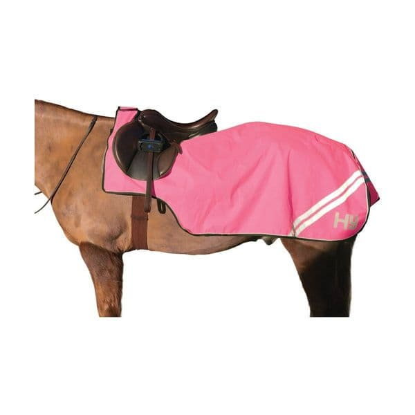 Reflector exercise sheet by hy equestrian - pink